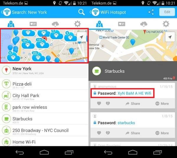 ver contraseñas en wifi map pro