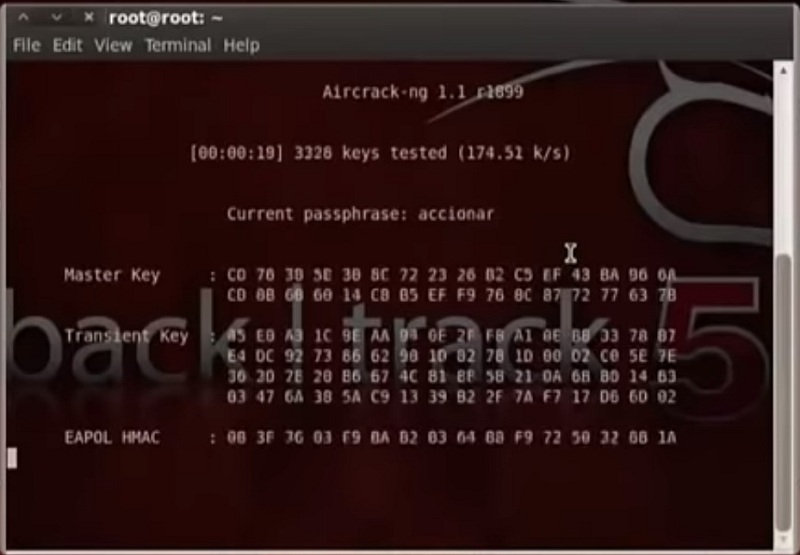 descifrando clave wifi con aircrack de backtrack