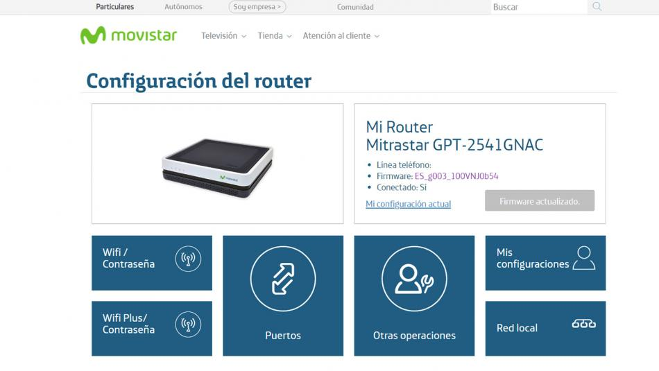 cambiar contraseña del router wifi Movistar