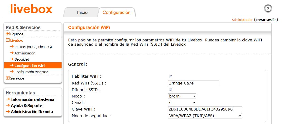 como cambiar contraseña router wifi