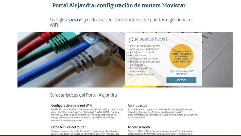 configurar router movistar