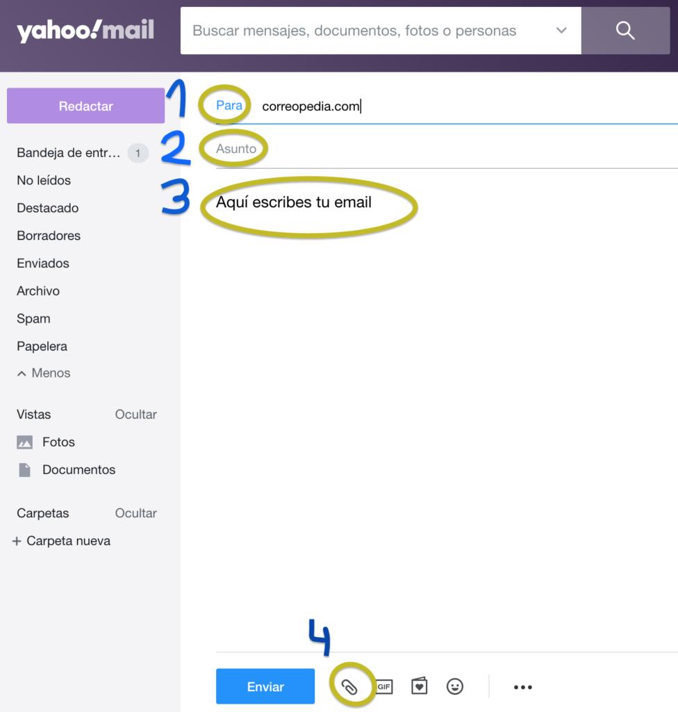 como enviar un correo electrónico