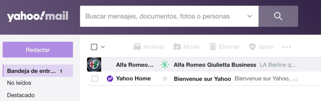 mandar un correo electrónico desde Yahoo