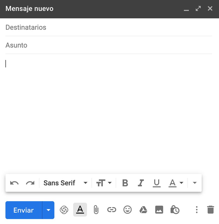 mandar un email con gmail