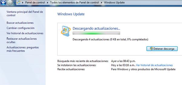 Actualizar controladores con Windows Update