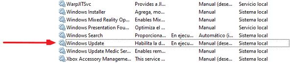 Cómo desactivar las actualizaciones desde los Servicios paso 4