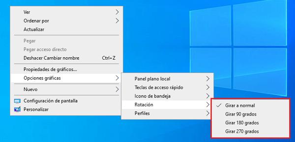 Cómo girar la pantalla desde las propiedades gráficas paso 4