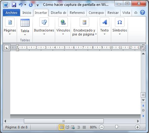 Cómo hacer captura de pantalla con ImprPant + Alt paso 1