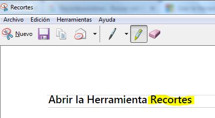 Cómo hacer captura de pantalla con Recortes paso 5
