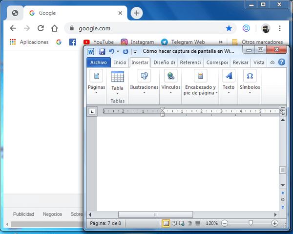 Cómo hacer captura de pantalla con Tecla ImprPant paso 1