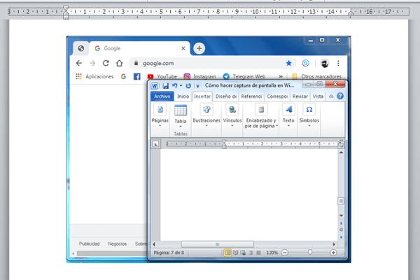 Cómo hacer captura de pantalla con Tecla ImprPant paso 2