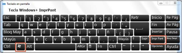 Cómo hacer captura de pantalla con Windows + ImprPant paso 1