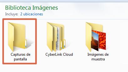 Cómo hacer captura de pantalla con Windows + ImprPant paso 2