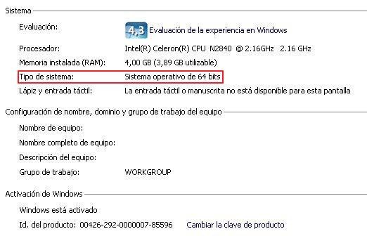 Cómo saber cuantos bits tiene mi PC Windows 7 paso 4