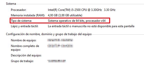Cómo saber cuantos bits tiene mi PC mediante las propiedades del Sitema paso 3