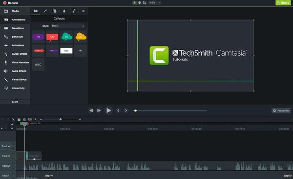 Camtasia como programa de descarga para grabar pantalla de Windows 10