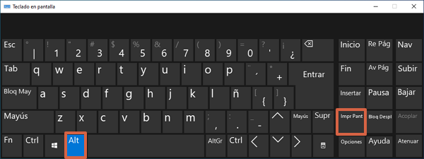 Combinación Alt + Impr Pant para realizar capturas de pantalla en Windows 10