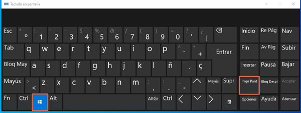 Combinación Win + Impr Pant para realizar capturas de pantalla en Windows 10