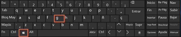 Como grabar pantalla de PC en Windows 10 paso 1