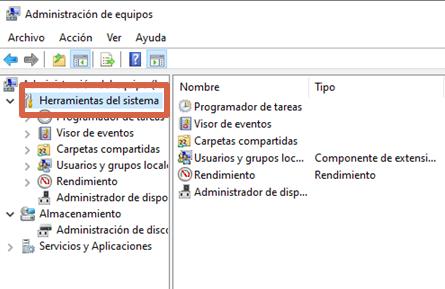 Eliminar contraseña en Windows 10 con la Administración de equipos paso 2