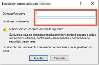Eliminar contraseña en Windows 10 con la Administración de equipos paso 6