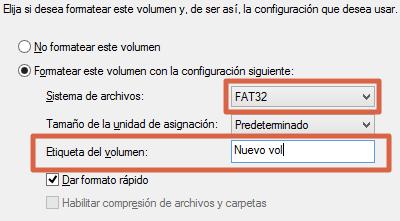Eliminar y rehacer volumen de un USB desde el Administrador de Discos paso 7