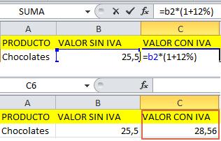 Formula de IVA en Excel - 1