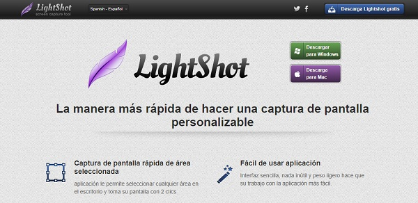 LightShot como herramienta externa para hacer capturas de pantalla en Windows 10