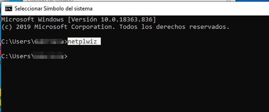 Quitar contraseña de Windows configurando cuentas de usuario paso 2
