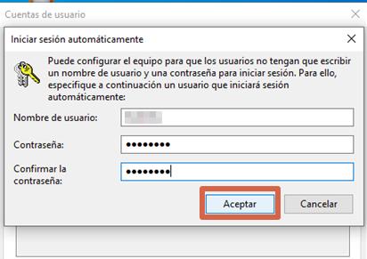 Quitar contraseña de Windows configurando cuentas de usuario paso 5