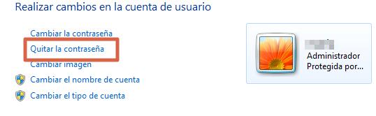 Quitar la contraseña en Windows 7 paso 4