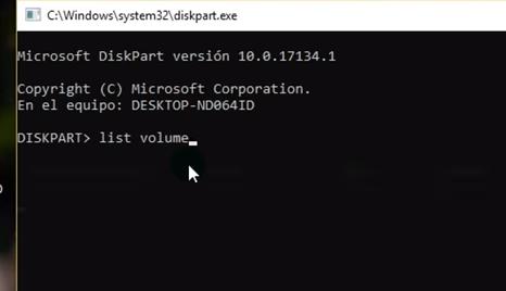 Quitar la protección contra escritura método DiskPart paso 3