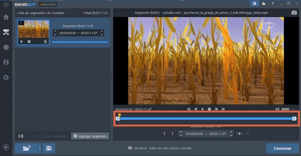 Recortar videos con Bandicut paso 3
