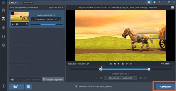 Recortar videos con Bandicut paso 4