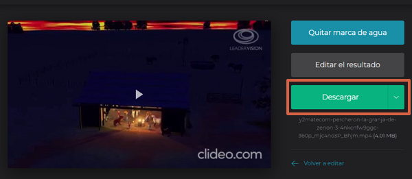 recortar videos con Clideo video cutter paso 12