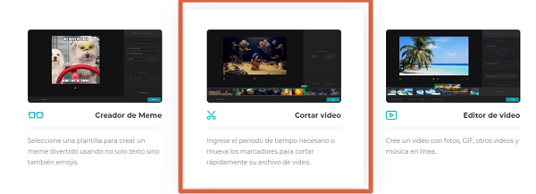 Recortar videos con Clideo video cutter paso 6