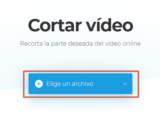 Recortar videos con Clideo video cutter paso 7