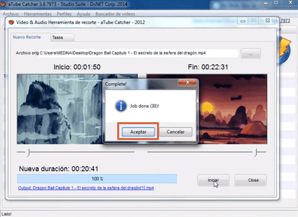 Recortar videos con aTube Catcher paso 6