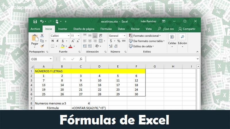 fórmulas de excel escenciales