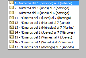 calendario de formula DIASEM en Excel