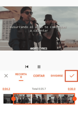 cortar video con YouCut paso 4