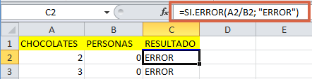 formula sierror en Excel - 1