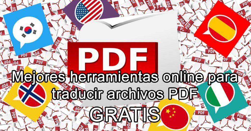 como traducir pdf online