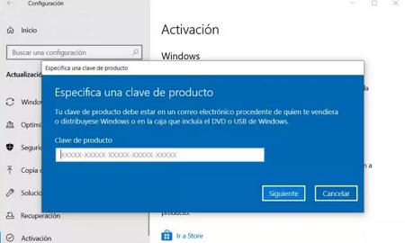 Cómo activar Windows 10 mediantes claves de productos paso 4