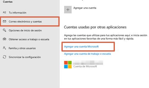 Cómo vincular una cuenta de Microsoft al Sistema Windows 10 paso 3