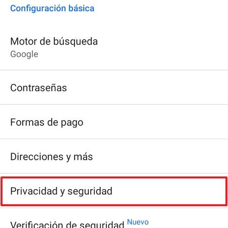 Chrome_movil_privacidad