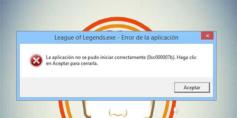 La aplicación no se pudo iniciar correctamente 0xc00007b