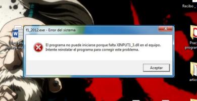como solucionar el error xinput1_3dll