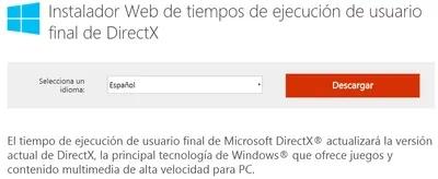 instalar directx