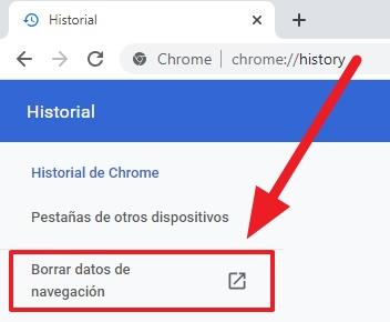 solucionar error de cache desde el historial